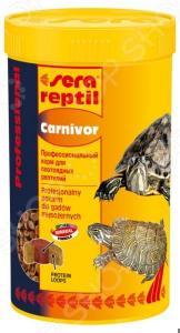 Корм для водоплавающих черепах и плотоядных рептилий Sera Reptil Professional Carnivor