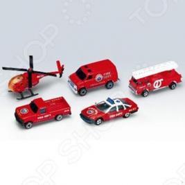 Набор машинок игрушечных Welly «Пожарная команда»