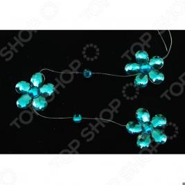 Бусы елочные Crystal Deco «Цветочек»
