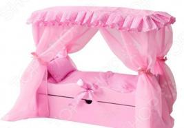 Кровать для куклы PAREMO с выдвижным ящиком и балдахином