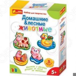 Набор для детского творчества Ранок «Гипс на магнитах. Домашние и лесные животные»