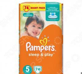 Подгузники Pampers Sleep & Play 11-18 кг, размер 5, 74 шт.