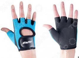 Перчатки для фитнеса Star Fit SU-107. Цвет: синий, черный