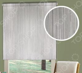 Рулонная штора Эскар «Стоун». Цвет: серый