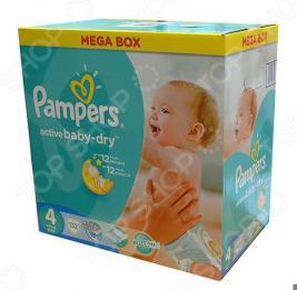 Подгузники PAMPERS Active Baby Maxi Мега упаковка