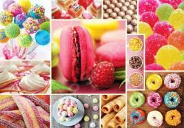 Пазл 1000 элементов Trefl «Коллаж - конфеты»