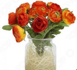 Декоративные цветы Dream Garden «Купальницы оранжевые» в вазе
