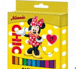 Набор фломастеров Disney «Минни»: 12 цветов