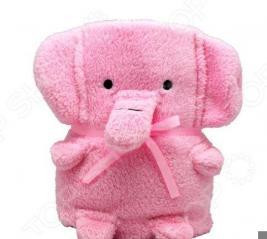 Плед-игрушка Coool Toys «Розовый слоник»