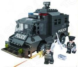 Конструктор игровой 1 Toy «Полицейский спецназ. Бронемашина»