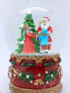 Снежный шар музыкальный Crystal Deco «Вручение подарков от Санты»