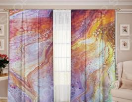 Комплект штор ТамиТекс «Белый Муар 03»