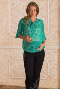 Блузка для беременных Nuova Vita 1318.02. Цвет: бирюзовый