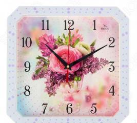 Часы настенные Вега П 4-7134/7-75 «Роза. Сирень»