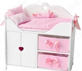 Кровать-комод для куклы PAREMO с принадлежностями для сна