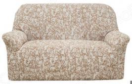 Натяжной чехол на двухместный диван Еврочехол «Виста. Антея»