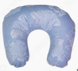 Подушка ортопедическая для шеи Био-Текстиль «Подкова. Розы»