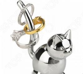 Подставка для колец Umbra Zoola Chrome «Кошка»