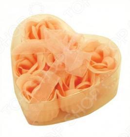 Цветы мыльные Банные штучки «Розы в Сердце» 6 штук. В ассортименте