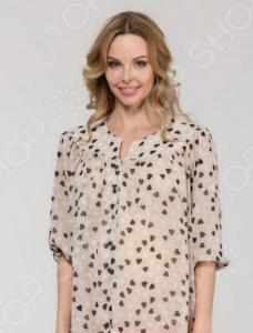 Блузка для беременных Nuova Vita 1336.01. Цвет: коричневый