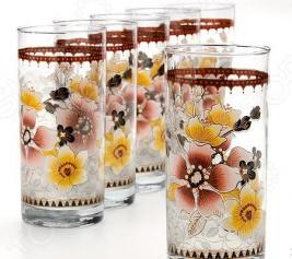 Набор стаканов «Яркое настроение». Цвет: бежевый