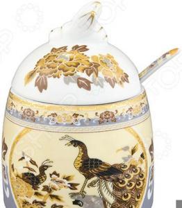 Горшочек для меда Elan Gallery «Павлин на бежевом» 180861