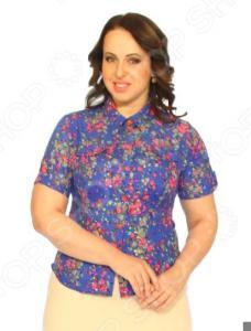 Рубашка Salvi «Букет впечатлений». Цвет: васильковый