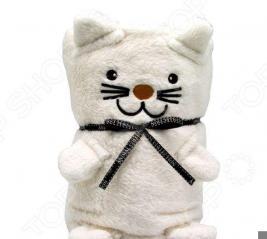 Плед-игрушка Coool Toys «Белый котик»