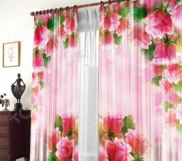 Шторы «Розовая арка»