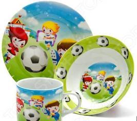 Набор посуды для детей Loraine «Футбол» LR-24022