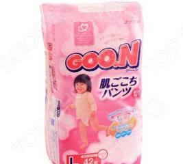 Трусики GOO.N L для девочек 9-14 кг. 46 шт