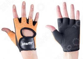 Перчатки для фитнеса Star Fit SU-107. Цвет: песочный, черный