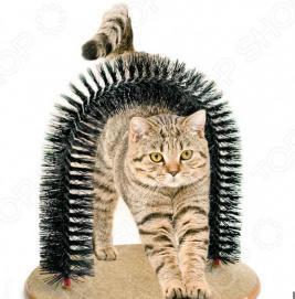 Когтеточка с щеткой «Кошачье удовольствие»