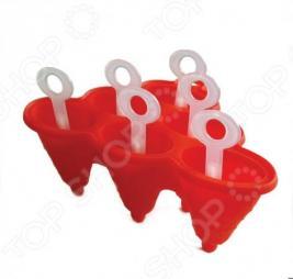 Форма из силикона для изготовления мороженого «Фигурная»: 6 ячеек