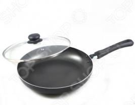 Сковорода Flonal Black&Silver с крышкой