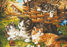 Набор для рисования по номерам Schipper «Семейство кошачьих»