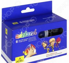 Краски для рисования пальцами ADEL Adeland 234-0620-100