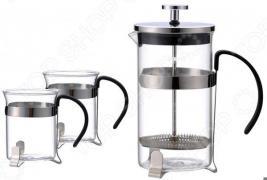 Набор: френч-пресс и стаканы Bekker BK-372