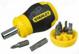 Отвертка STANLEY Stubby Multibit и 6 вставок