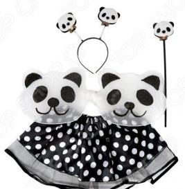 Костюм новогодний для девочки Новогодняя сказка «Панда» 972131