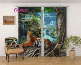 Фототюль Сирень «Индийский тигр»