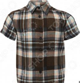 Рубашка с коротким рукавом Finn Flare Kids KS16-81003. Цвет: темно-коричневый