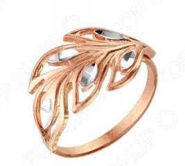 Кольцо «Изящество природы» 2302702-5. Цвет: золото