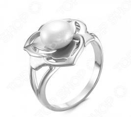 Кольцо «Жемчужная роза» 23310648Д. Цвет: серебро