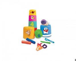 Игрушка-пирамидка FUN FOR KIDS «Разноцветные стаканчики»