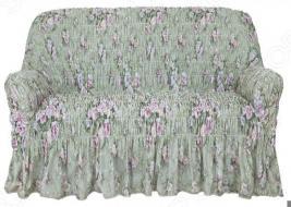 Натяжной чехол на двухместный диван Еврочехол «Фантазия. Феличита»