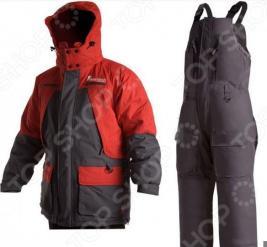 Костюм для рыбалки зимний NOVA TOUR «Фишермен v.2». Цвет: серый, красный