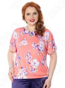 Блуза Wisell «Южный ветер». Цвет: оранжевый, фиолетовый