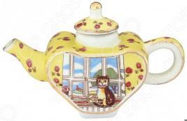 Чайник сувенирный Elan Gallery «Кошка у окошка»