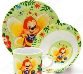 Набор посуды для детей Loraine «Пчелка»